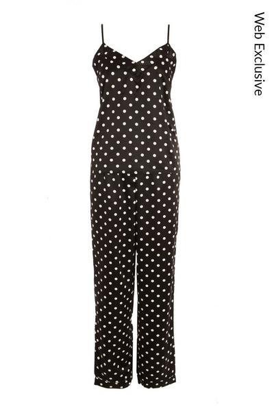 Black Polka Dot Cami Pyjama Set